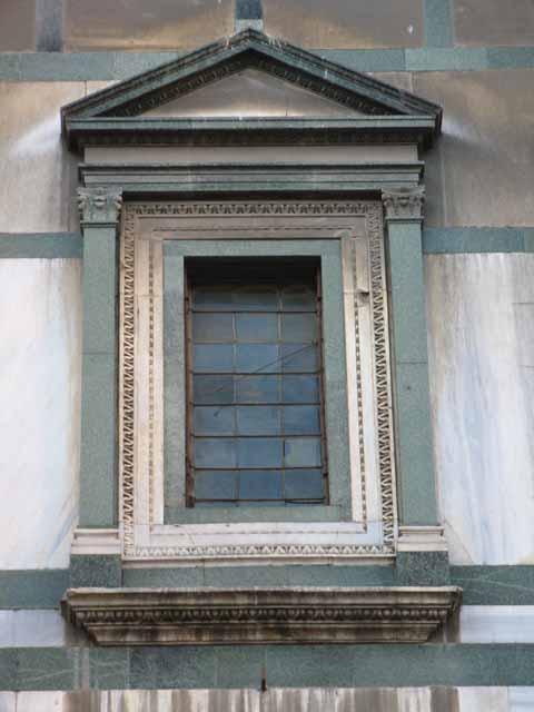 Il battistero di firenze - Finestra a due archi ...